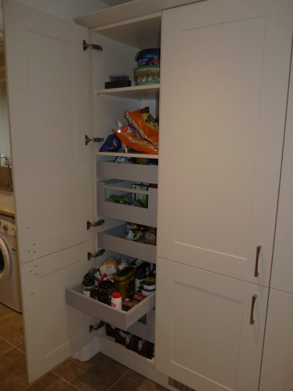 Broadoak Alabaster tall larder