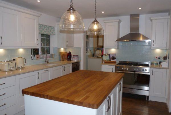 Mornington beaded shaker Alabaster kitchen