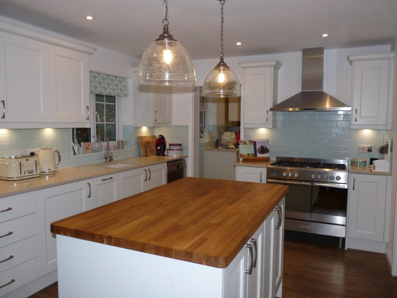 Mornington beaded shaker Alabaster kitchen