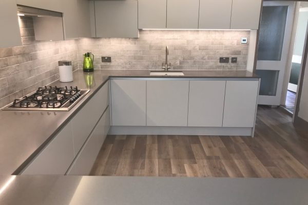 Porter dove grey matt kitchen
